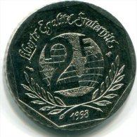 FRANCE -  2 Francs Cassin 1998 -  Etat SPL  - M019 - I. 2 Francs
