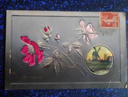 Fleurs En Tissus - Brodées