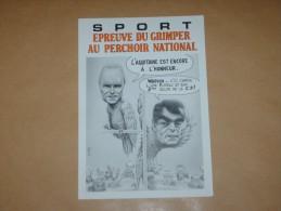 CPM Cpsm Cpa FLOIRAC 5E SALON 1992 CP PIRATE SPORT Autographe Dedicace VEYRI CARICATURE POLITIQUE CHABAN DELMAS 200EX - Veyri, Bernard
