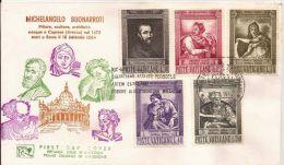 1964 VATICANO VATICAN MICHELANGELO BUONARROTI FDC LEONE - FDC