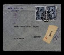 Lama Animal Animaux 2x Faune Fauna Bogota Colombia PERU Sp3203 - Stamps