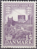 ARCHITECTURE - OLD  CASTLE SCHLOSS CHÂTEAU CASTILLO ON BORNHOLM 16TH CENT. DENMARK DANMARK DÄNEMARK 1955 MNH MI 344 - Châteaux