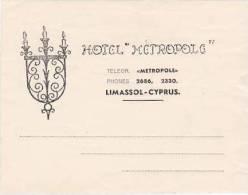 CYPRUS LIMASSOL HOTEL METROPOLE VINTAGE LUGGAGE LABEL