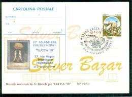 BORSE E SALONI COLLEZIONISMO-FRANCOBOLLI -LUCCA- CARTOLI NA- I NTERO POSTALE-SOPRASTAMPA PRIVATA-ANNULLO SPECIALE - Briefmarken (Abbildungen)