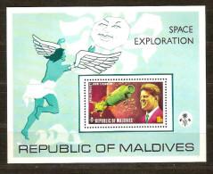 Maldives Malediven 1974 Yvertn° Bloc 21 *** MNH Cote 65 FF Kennedy - Maldives (1965-...)
