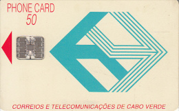 CAPE VERDE - Telecom Logo(blue), First Chip Issue 50 Units, Used - Cape Verde