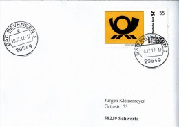 ! 8 Belege, Briefe Mit Marke Portocard Individuell 2012, 2013 , Dabei 1 Einschreiben - BRD
