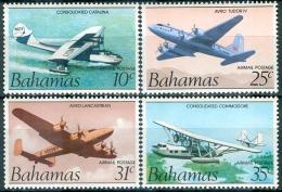 Bahamas 1987 Set/4 Airplanes aviation #C1-4