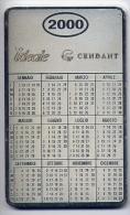 Calendarietto - Ideal Cendant - 2000 - Su Piastro In Ferro Col Oro - Calendari