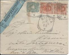 1901 Regno  C. 20 + 5 Umberto Da Siena Per Rosignano Marittimo - 1878-00 Umberto I