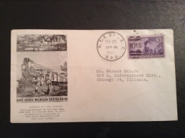 US 1945 FDC - 70th Anniversary Of The Fast Mail NY To Chicago - Vereinigte Staaten