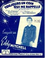 61 80 PARTITION*****EDDY MITCHELL TOUJOURS UN COIN QUI ME RAPPELLE BACHARACH 1964 BERNET DAVID - Muziek & Instrumenten