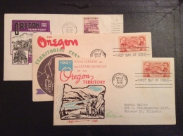US 1948 FDCs (x3) - 100th Anniversary Of Oregon TerritoryCovers - Vereinigte Staaten