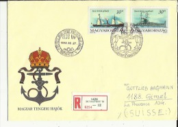 Enveloppe  Timbree  (Recommandée)  De 1er Jour  EI SO NAP  Le 27-10-1993 Exp: Dombai-Ferenc A B P  Lillet - Hongrie