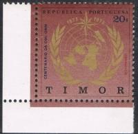 TIMOR 1973 CENTENARIO DA OMI - OMM     CENTENAIRE DE L'OMI - OMM    CENTENARY OF IMO - OMM - Timor