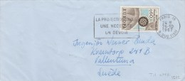 EUROPA YT 1522 SEUL SUR LETTRE PARIS 26/10/67 POUR LA SUEDE   TDA35 - Covers & Documents