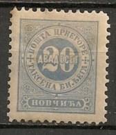 Timbres - Montenegro - Taxe - 1894 - 20 P.