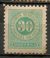 Timbres - Montenegro - Taxe - 1894 - 30 P.