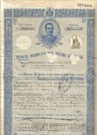 Debito Pubblico Del Regno D'italia 1919 Certificato Con Cedole Non In Perfetto Stato Cod.doc.062 - Documenti Storici