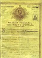 Debito Pubblico Del Regno D'italia 1905 Certificato Con Cedole Cod.doc.063 - Documenti Storici