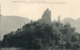 CPA-(38)- SAINT-GERVAIS (environs De Vinay)- Les Ruines Du Château D'Armieu - Altri Comuni