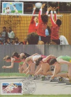Berlin 1982 Sport Kurzstreckenlauf & Volleyball 2v 2 Maximum Cards (18936) - [5] Berlijn