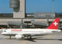 Swissair, Airbus A319-112 At Zurich Airport, Unused Postcard [14869] - 1946-....: Modern Era