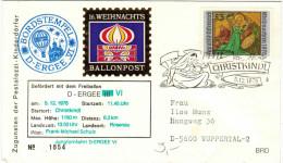 AUSTRIA - ÖSTERREICH - AUTRICHE – 1976 – Ballonpost - 16. Weihnachts - Christkindl - D-ERGEE VI - Mongolfiere