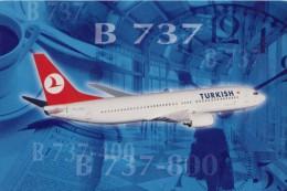 Turkish Airlines, Boeing 737-400/800, Unused Postcard [14884] - 1946-....: Moderne