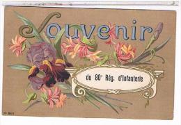 CPA  11 NARBONNE SOUVENIR DU 80° REGIMENT D INFANTERIE              CP787 - Narbonne