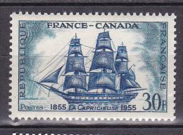 N° 1035 Centenaire De L´Amitié Franco-Canadienne : Frégate La Capricieuse: - France