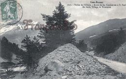 (04) Vallée De L'Ubaye - Route De La Condamine à Saint-Paul - Au Fond, Village De Tournoux - 2 SCANS - Autres Communes