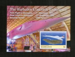 Barbados ** Block  Concorde , Aviation , Plane (2008) - Concorde