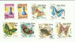 Vietnam N°1246, 1247, 1250 à 1255 Cote 2.45 Euros - Viêt-Nam