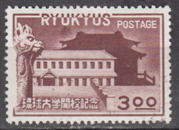 Ryukyu Isl.   Scott No   14   Unused Hinged     Year 1951 - United States