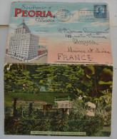 SOUVENIR OF PEORIA ILLINOIS CARTE LETTRE 21 VUES - Peoria