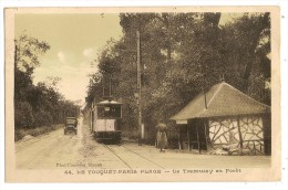 CPA 62 Le TOUQUET Paris Plage Arrêt Du Tramway - Le Touquet