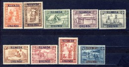 Ruanda Urundi  Cat: OBP/COB  nr 81-89     neuf charni�re- postfris plakker - MH   (X)