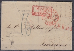 Belgie 1835 Brief Van Bruxelles Naar Bordeaux (par Valenciennes) (18945) - 1830-1849 (Belgique Indépendante)