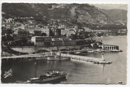 MONACO ~ RPPC View From Post MONTE CARLO Real Photo Postcard 1947 - Harbor