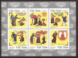 ~~~ Vietnam 1998 - Fairytales Block - Mi. 2908/2913  ** MNH - Kleinbogen ~~~ - Vietnam
