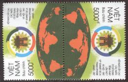 ~~~ Vietnam 1997 - Pays Francophone  - Mi. 2881 ** MNH -  Tete Beche  ~~~ - Vietnam