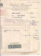 CALLEGARI E GHIGI, SACCHERIA RAVENNATE, RAVENNA, FATTURA COMMERCIALE 1930, CON MARCHE DA BOLLO - Italia