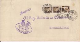 GAVORRANO, GROSSETO, PIEGO POSTALE COMUNE, Cent.25,TARIFFA RIDOTTA PODESTA,TIMBRO POSTE GAVORRANO FRAZIONARIO 30-25, MON - Italia