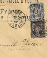 FOULAGE Avec ECHO, DAGUIN  SOLO PARIS  DEPART  Sur Enveloppe SAGE Pour La Suisse. - Marcophilie (Lettres)
