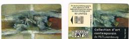 LUSSEMBURGO (LUXEMBOURG) - P&T CHIP - 2000 SC23 ARTE CONTEMPORANEA: GUY MICHELS   - USED - RIF. 7960 - Lussemburgo