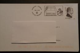 Tennis Rolex Masters 2014 Monaco - Flamme Sur Lettre Postmark On Cover - Postmarks