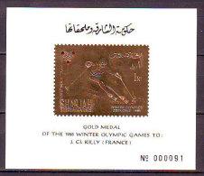 SHARJAH - WINNERS OLYMPIC GRENOBLE - J. C. KILLY  - ** MNH -  1968 - Hiver