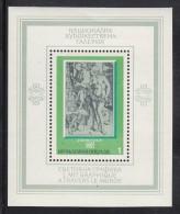 Bulgaria MNH Scott #2254 Souvenir Sheet 1l 'Temptation' By Durer - World Graphics Exhibition - Bulgarie