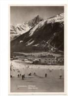 C P A-C P S M---74---CHAMONIX-Mt-BLANC--hôtel Savoy--une Piste De Luge--voir 2 Scans - Chamonix-Mont-Blanc